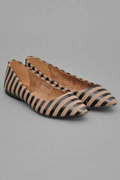35043de5692   striped  flats Cute Flats
