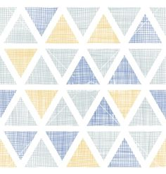 Abstract textile ikat triangles seamless pattern vector by Oksancia on VectorStock®