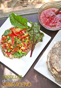 Tortillas de Trigo Sarraceno - Cocina vegana fácil