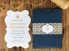 Convite de casamento azulejo português