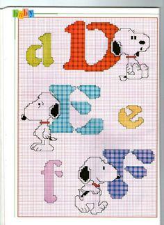 Snoopy Alphabet- part 2 of 8