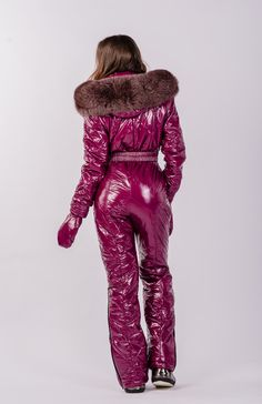 RUBI DEEP moncler | Argentumfashion Snow Fashion, Winter Fashion, Ski Jumpsuit, Vinyl Clothing, Clothing Ideas, Down Suit, Winter Suit, Womens Wetsuit, Weather Wear