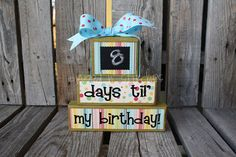 Personalized COUNTDOWNS chalkboard wood block set by jodyaleavitt, $19.95