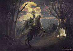 Happy Halloween Headless Horseman by madmagnus on DeviantArt Halloween Movies, Halloween Pictures, Halloween Night, Spooky Halloween, Happy Halloween, Halloween 2019, Legend Of Sleepy Hollow, Headless Horseman, Autumn Scenes
