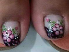 Toe Nail Art, Toe Nails, Girly Things, Girly Stuff, Nail Art Designs, Finger, Hair Beauty, Nail Polish, Lily
