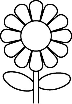 coloring pages for preschoolers | Preschool Flower Coloring Pages