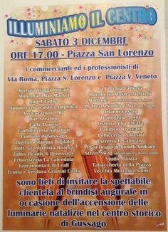 """Sabato 3 dicembre """"Illuminiamo il centro"""" 2016 - http://www.gussagonews.it/illuminiamo-centro-accensione-luminarie-dicembre-2016/"""