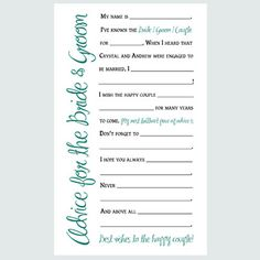 15 Best Wedding Advice Cards Images Wedding Advice Box Wedding