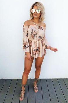 ffd0805eb6b A Perfect Summer Romper  Peach Multi Cute Girl Outfits