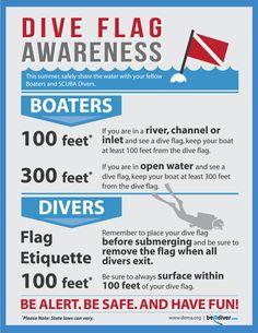 dive flag awareness poster