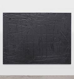 "Rashid Johnson; Cosmic Slop ""The Berlin Conference"", 2011  Black soap, wax  184.2 x 245.11 x 5.1 cm / 72 1/2 x 96 1/2 x 2 in"