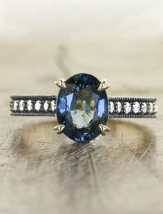 Unique Sapphire Engagement rings by Ken & Dana Design - eco friendly and conflict free - NYC