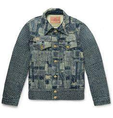 BlackmeansPatchwork Denim Jacket