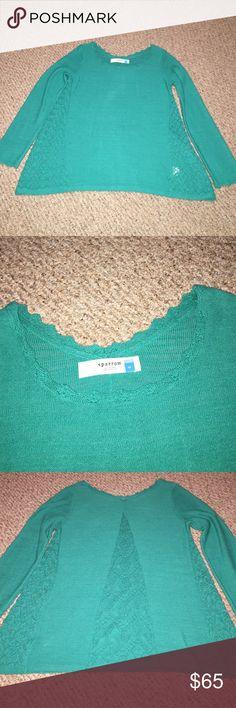 Anthropologie Green Sparrow Sweater EUC. Cotton/acrylic blend. Emerald green. Anthropologie Sweaters Crew & Scoop Necks