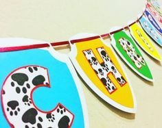 Paw Patrol Banner Birthday By PresentsFromTheHeart