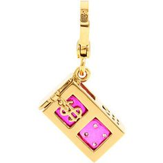 Juicy Couture - Pink Pave Dice Charm (Gold) - Jewelry