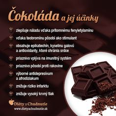 Čokoláda a jej účinky na chudnutie a zdravie človeka - Ako schudnúť pomocou diéty na chudnutie Raw Food Recipes, Diet Recipes, Healthy Recipes, Health And Beauty Tips, Health Tips, Dieta Detox, Healing Herbs, Wellness, Natural Medicine