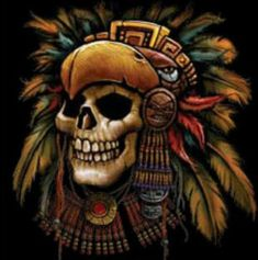 ... Art Ideas Aztec Skull Drawing Art Artist Tattoo Ideas Aztec Tattoos