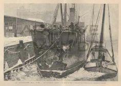 The damaged steamer Crathie. Published by L'Illustration, feb 9, 1895.