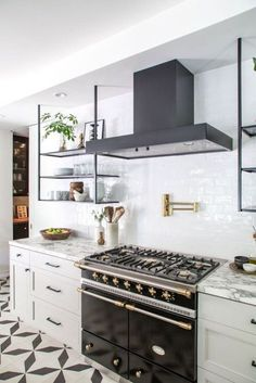 BECKI OWENS- Kitchen Trend: French Bistro Shelving