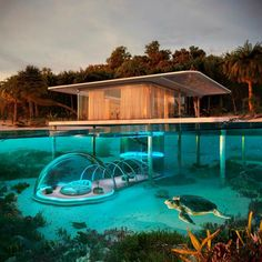 Home Decoration katalay.net/home-decoration/ #homedecor #homedecoration Underwater Bubbles, Underwater House, Dream Home Design, Modern House Design, Amazing Architecture, Architecture Design, Floating Architecture, Modern Architecture House, Bubble House