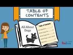 Informational Writing for Kids- Episode 7: Making a Table of Contents - YouTube