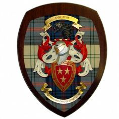 Coat of Arms Plaque - ScotCrest - Traditional products handmade in Blairgowrie, Perthshire, Scotland including Wall Plaques, Whisky, Glasses, Mugs and Key Fobs