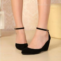 sensationaly hot Elegant Suede Upper Wedge Heels
