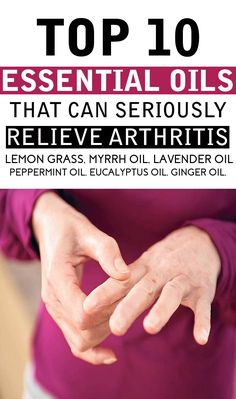 Essential Oils That Can Seriously Relieve Arthritis Have you ever experienced the pain of arthritis? Believe me its unbearable; yes arthritis isHave you ever experienced the pain of arthritis? Believe me its unbearable; yes arthritis is Essential Oils For Colds, Essential Oil Uses, Young Living Essential Oils, Essential Oils Arthritis, Essential Oils For Inflammation, Arthritis Remedies, Health Remedies, Arthritis Exercises, Arthritis Treatment