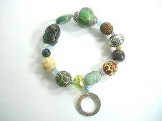 Beadaholic Bracelet  Electric Stone Ceramic by waialuaplantation, $12.00