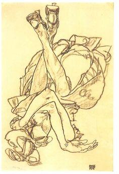 Egon Schiele. Study. 1914 ●彡