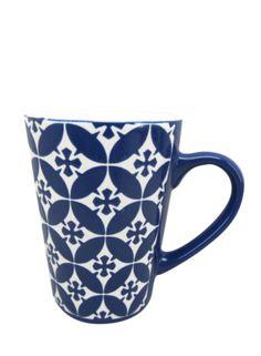 A Loja do Gato Preto | Caneca Alta Azulejo Azul #alojadogatopreto