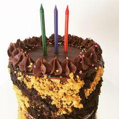 A vegan vanilla sponge cake topped with dairyfree