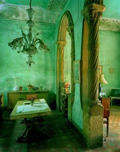 Green turquoise walls