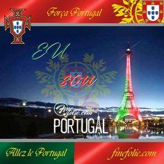 Cores portuguêsas iluminando a Torre Eiffel