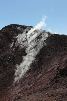 https://flic.kr/p/u26Pmj | IMG_2292 | © Amy Carlisle. Smoke rising from a crater on Mount Etna.