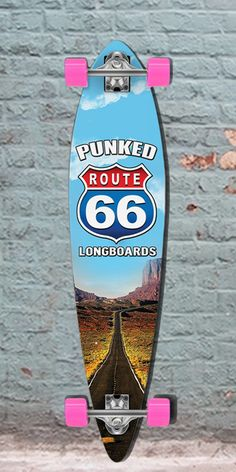 "Longboards USA - Route 66 The Run Pintail Longboard 40"" from Punked, $107.00 (http://longboardsusa.com/route-66-the-run-pintail-longboard-40-from-punked/)"