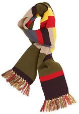 DOCTOR WHO 4TH DOCTOR PRINT KNIT SCARF ADULT COSTUME AUTHENTIC *NEW* RARE SALE