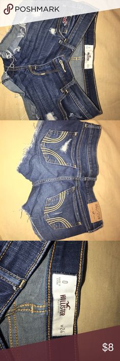 Hollister jean shorts Size 0 Hollister shorts Hollister Shorts Jean Shorts