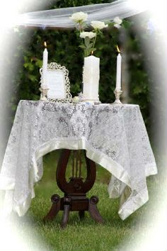 creative unity candle table | Click on pictures to enlarge