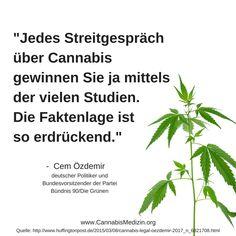 Heute ein Zitat von Cem Özdemir zur Faktenlage rundum Cannabis.
