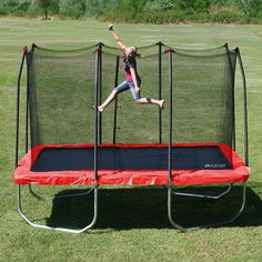 """Stats 12 ft. Rectangle Trampoline and Enclosure - Skywalker Holdings - Toys """"R"""" Us"""