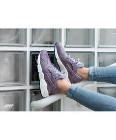 c5b14337ec38 Nike Air Huarache Womens Trainers In Purple Smoke