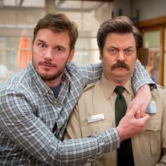 Parks and recreation. Love this show. Parks And Recs, Andy Dwyer, Nick Offerman, Parks Department, Chris Pratt, Parks And Recreation, Music Tv, Best Shows Ever, Best Tv