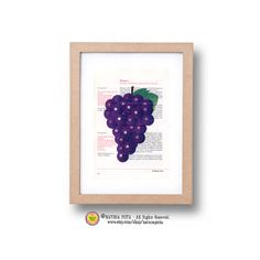 Kitchen Wall Art Grape fruit printLimited edition by naturapicta, $12.99 © NATURA PICTA All Rights Reserved