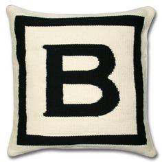 I love the letter B.  Jonathan Adler Letter Pillow in Letter Pillows