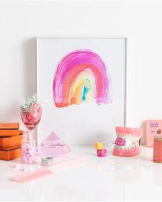 Rainbow Painting, Rainbow Art, Wallpaper Iphone Cute, Aesthetic Iphone Wallpaper, Watercolor Cards, Watercolor Print, Art Prints Online, Project, Dream Art