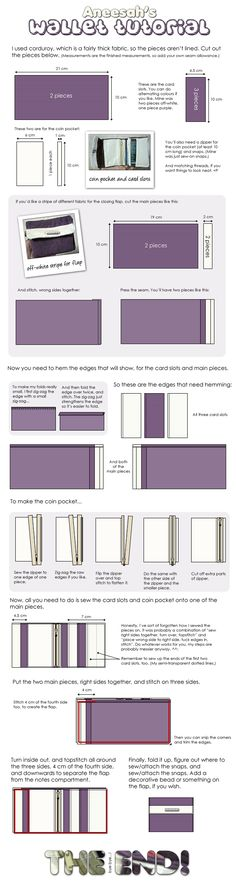 Wallet tutorial by ~aneesah on deviantART