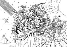 """""""strange meeting"""", #Zeichnung #Pigmenttusche (MICRON schwarzer Pigment - Fineliner) auf #CANSON #Papier """"Mixed Media"""", 200 g/m2 30 x 21 cm, © #matthias #hennig 2020 . """"strange meeting"""", #india #ink #drawing ( MICRON black pigment ink fineliner) on CANSON #paper """"Mixed Media"""",200 g/sqm 30 x 21 cm, © #matthias #hennig 2020 Drawing, Artwork, Paper, Black Man, Work Of Art, Auguste Rodin Artwork, Sketches, Artworks, Drawings"""