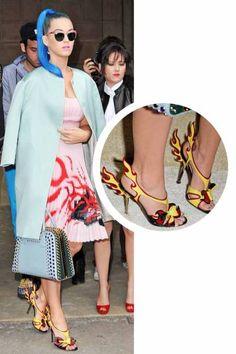 Katy Perry wears Prada racing car heels- thoughts?